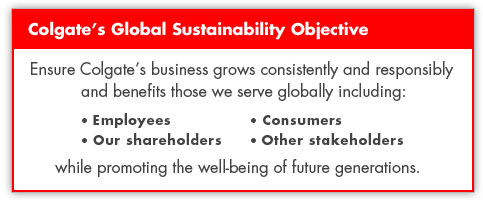 Colgate's Gloval Sustainability Objective