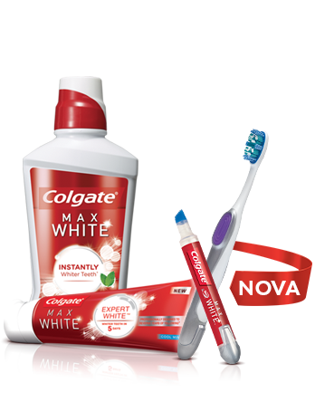 Colgate Max White Whitening Toothpaste, Mouthwash and Toothbrush