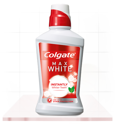 Colgate® Max White Mouthwash for Instantly Whiter Teeth