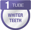 colgate total toothpaste will provide whiter teeth after using one tube of toothpaste